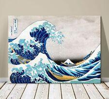"""Beautiful Japanese Sea Art ~ CANVAS PRINT 8x12"""" ~Hokusai Great Wave Kanagawa #2"""