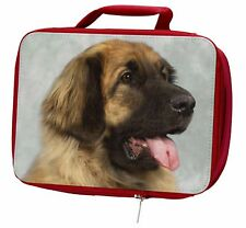 More details for blonde leonberger dog insulated red school lunch box/picnic bag, ad-le1lbr