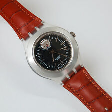 SWATCH IRONY DIAPHANE AUTOMATIC Luxury Men Leather Band Analog Wrist Watch