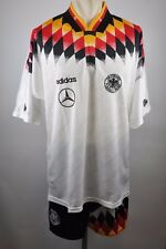 Allemagne Dfb Maillot Set 1994 Adidas Jersey MERCEDES taille XL 94er écusson GERMANY