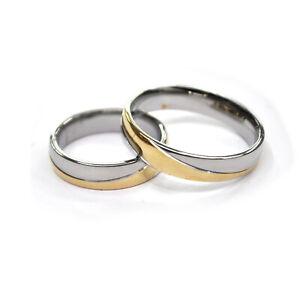 Edelstahl Ringe Partnerringe Silber/gold glanz Damen Herren Trauringe Ehering