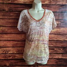 Women's MAURICES Multicolored Beaded V-Neck Blouse Size Medium