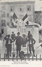 Monument de Neige LA CHAUX-DE-FONDS Suisse 1907 Carte Postale Wespy Editeur