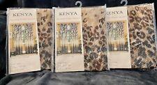 "New ListingKenya Animal Print Decorative Window Treatment Curtain Panels 50""x84"" Nip"