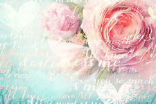 BEAUTIFUL SHABBY CHIC CANVAS PICTURE #32 STUNNING FLORAL HOME DECOR A1 CANVAS