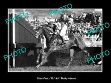 OLD POSTCARD SIZE PHOTO AUSTRALIAN HORSE RACING PETER PAN 1932 AJC DERBY