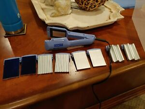 Conair Shiny Styles With Five Plates Model CS9 120V crimper flat iron blue