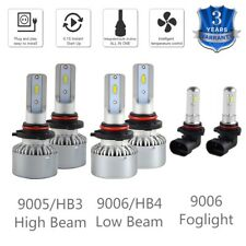 6x For Toyota Matrix 2003-2008 9005 9006 Headlight & Foglight LED Combo Bulbs