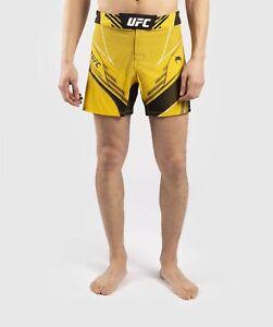 UFC VENUM MMA PRO LINE MEN'S SHORTS - YELLOW - FREE SHIPPING