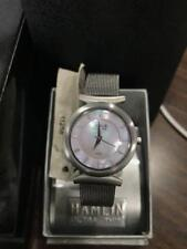 Ladies Watch with Pink Mother of Pearl Dial & T-Bar Mesh Band