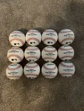 Mlb baseballs. One dozen Bp/ Game Used Rawlings Offical Major League Baseballs