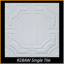 R28A Caracas White Decorative Styrofoam Glue Up Ceiling Tiles 20x20 Tin Look