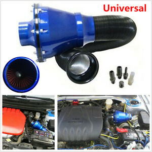 Car High Flow Cold Air Inlet Cleaner Kit Air Power Intake Bellows Filter 76mm