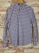 J.Crew Mens Slim Fit Cotton Purple White Gingham Check Button Down Shirt Size M