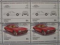 1976 JAGUAR XJ-S / XJS Saloon Car 50-Stamp Sheet / Auto 100 Leaders of the World