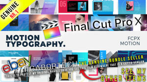 Final Cut Pro X - Motion Typography FCPX or Apple Motion