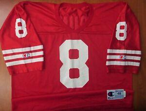 Vintage Rare Champion NFL San Francisco 49ers Steve Young Football Jersey 48 USA