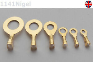 M3/M4/M5/M6/M8/M10 Ring Lug Ring Eyes Copper Crimp Terminals Cable Wire -