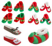 MENS/LADIES/KIDS XMAS CHRISTMAS SLIPPERS ELF SANTA RUDOLPH REINDEER NOVELTY BOOT