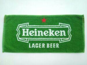 new heineken lager beer golf bar towel cloth pub home gift man cave gift unused