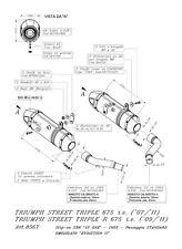 SCARICO LEOVINCE SBK TERMINALE  LV ONE OMOLOGATO TRIUMPH STREET TRIPLER  R 675
