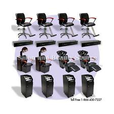 Salon Spa Package Backwash Shampoo Unit Styling Chairs