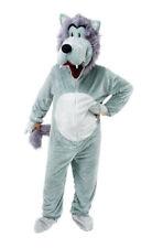GREY WOLF COSTUME BIG HEAD ANIMAL KINGDOM LITTLE RED RIDING HOOD FANCY DRESS