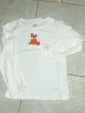 """NWT- Gymboree """"Butterfly Girl"""" long sleeved ivory butterfly & flower top - 3"""