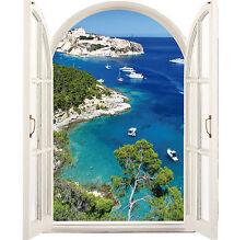 Sticker fenêtre trompe l'oeil Calanques 95x120cm 040