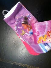 BRAND NEW IN PACK  DISNEY PRINCESS TWO PAIR OF TODDLER GIRLS  SOCKS SIZE 6-8.5