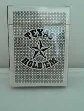 Texas Hold 'Em Black & White Playing Card Decks New in Packages (Lot of 2)