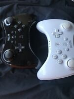 Lot Of 2 Nintendo Wii U Wireless Pro Controller WUP-005 Classic Official OEM