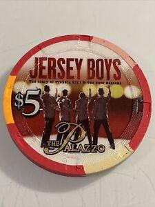 THE PALAZZO JERSEY BOYS $5 Casino Chip  LAS VEGAS Nevada 3.99 Shipping