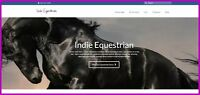 HORSE|EQUESTRIAN Website|$407.90 A SALE|FREE Domain|FREE Hosting|FREE Traffic