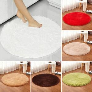 Round Fluffy Rug Non Slip Shaggy Rug Soft Floor Carpet Mat Living Room Bedroom