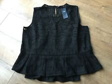 BNWT M&S Ladies Black Crochet Style Top - Size UK 18 - RRP £35