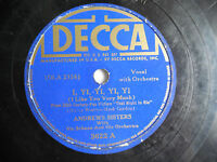 "Andrews Sisters Decca 3622 I Yi Yi Yi In Apple Blossom Time 78rpm 10"" 198-4NC"