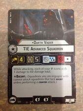 Star Wars Armada Darth Vader TIE Advanced Squadron Card