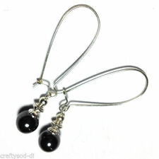 Hematite Silver Plated Drop/Dangle Costume Earrings