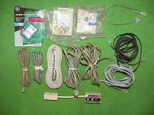 Lot of 12 Mixed Telephone- Line Cord Wire Cables/Modular Phone Jacks/Line Tester