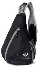 Black Chest Bag Messenger Shoulder Travel Sling Backpack Hiking Sport Cycling