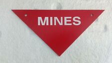 Danger Plastic Pointing Sign Triangle Navigating/Warning Plate - MINES