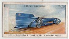 1931 Campbell's 'Blue Bird' Napier-Campbell Daytona Record 1930s Trade Ad Card