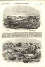 1855 RIVISTA ESPLOSIONE A Inkerman antico edificio scoperto Sebastopol