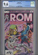 Rom #41 1982 Marvel CGC 9.6 Doctor Strange App: New Frame