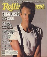 Rolling Stone September 26 1985 Sting, Rob Lowe w/ML 122116DBE2
