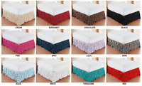 "Premium™ Quality Multi-Ruffled BedSkirt Dust Ruffle 15"" Drop Egyptian Microfiber"