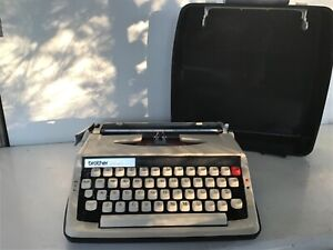 Immaculate MCM Brother Activator 800T Portable Typewriter Practically Mint