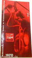 Rio Automobile Katalog 1970 å