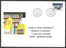 Enveloppe premier jour MAIL ART - Bibliothèque National de France- grand format